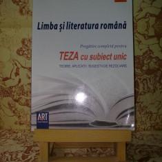 "A. Costache - Limba si literatura romana Teza cu sub unic clasa a VIII a ""A2641"""