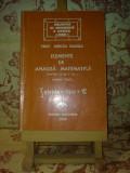"""Mircea Ganga - Elemente de analiza matematica pt cls a XII a Partea I  """"A2418"""""""
