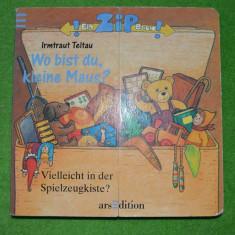 Carte pentru copii, in limba germana, Wo bist du, kleine Maus?, pagini de carton - Carte de povesti