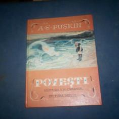 POVESTI-A.S.PUSKIN, ILUSTRATOR IV.BRUN - Carte de povesti