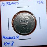 POLYNEZIA FRANCEZA 10 FRANCS 1972 KM 8, Australia si Oceania, An: 1978, Cupru (arama)