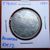 POLYNEZIA FRANCEZA 5 FRANCS 1990 KM 12, Australia si Oceania, An: 1978, Cupru (arama)