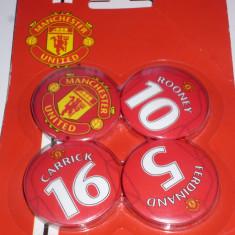 4 insigne fotbal MANCHESTER UNITED (o folie cu 4 insigne) - Insigna fotbal