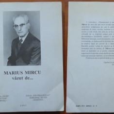 Marius Mircu vazut de ... ; Editura Glob Israel - Editura Ion Prelipcean, 2003