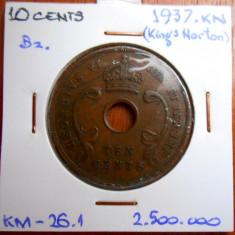 AFRICA DE EST 10 CENTS 1937 KM 26.1, An: 1978, Cupru (arama)