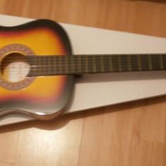 Chitara clasica incepatori cu corzi de metal si pana culoare galbe-negru