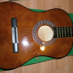 Chitara clasica incepatori cu corzi de metal si pana culoare maro