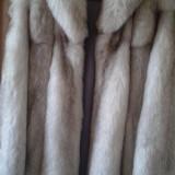 Haina blana vulpe polara superba! - haina de blana
