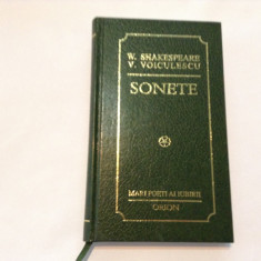 W SHAKESPEARE, V VOICULESCU SONETE, EDITIE BIBLIOFILA, RF9/1 - Carte de lux