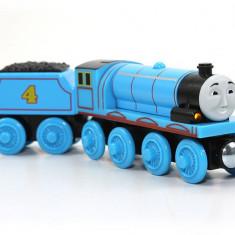 Locomotiva Gordon cu vagonul sau, colectia Thomas si prietenii sai - Trenulet Fisher Price, 4-6 ani, Lemn, Baiat