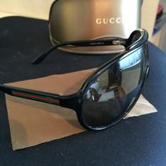 Ochelari de soare Gucci GC104/S D28QG 120, Barbati, Auriu, Plastic, Protectie UV 100%
