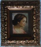 Cumpara ieftin Tablou original Attilio Toro (Naples 1892-1982 cu certificat expertiza originala, Portrete, Ulei, Impresionism