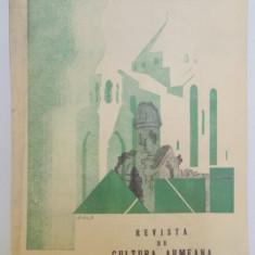 REVISTA DE CULTURA ARMEANA, ANUL II, VOL. II, APRILIE- IUNIE 1937, Bucuresti
