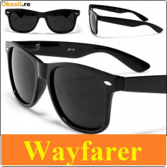 Ochelari de soare Wayfarer + SACULET, Unisex, Protectie UV 100%