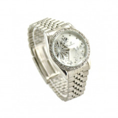 Ceas dama Automatic GOER Butterfly SILVER Edition CEL MAI MIC PRET Grantat, Mecanic-Automatic, Otel, Analog