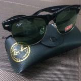 Ochelari Ray Ban Clubmaster Wayfarer + Toc - Ochelari de soare Ray Ban, Unisex, Verde, Protectie UV 100%