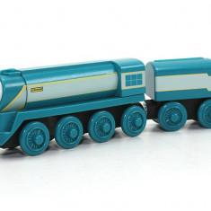 Locomotiva Connor cu vagonul sau - Trenulet Fisher Price, 4-6 ani, Lemn, Baiat