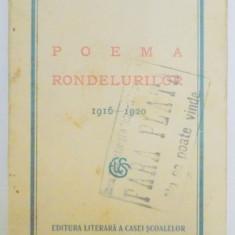 POEMA RONDELURILOR 1916-1920 de ALEXANDRU MACEDONSKI 1927