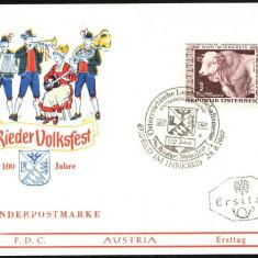 AUSTRIA 1967 – SARBATOARE NATIONALA CRESTEREA VACILOR, FDC