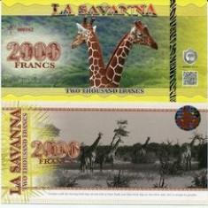LA SAVANNA- 2000 FRANCS 2015- UNC!! - bancnota africa