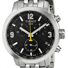 Ceas Barbatesc Tissot New PRC 200 Model 2013 Ecran Negru, Fashion, Quartz, Inox, Cronograf