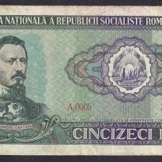 ROMANIA 50 LEI 1966 [2] P-96a - Bancnota romaneasca