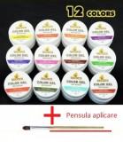Set 12 Geluri UV  Unghii LAMPA UV  + 1 Pensula