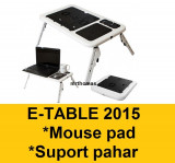 E-table Masa Masuta Suport notebook laptop 2 coolere + mouse pad suport pahar