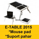 E-table Masa Masuta Suport notebook laptop 2 coolere + mouse pad suport pahar