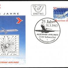 AUSTRIA 1983 – AVION DC 9 SUPER, FDC