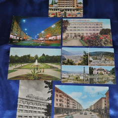 Lot 7 CP BACAU (Carti postale vechi, Vederi Romania), Circulata, Fotografie, Romania de la 1950