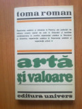 N6 ARTA SI VALOARE - TOMA ROMAN