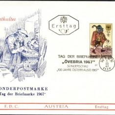 AUSTRIA 1967 – POSTAS MEDIEVAL, FDC