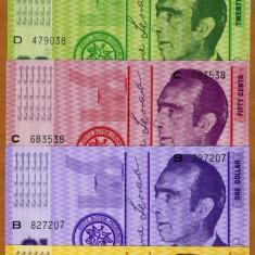 !!! AUSTRALIA : HUTT RIVER - SET ( 10 + 20 + 50 CENTI + 1 + 2 $ ) 1970 - UNC