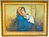 MADONA CU PRUNCUL, Portrete, Ulei, Realism