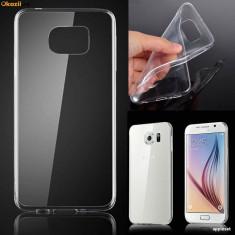 Husa Samsung Galaxy S6 Edge Plus TPU Ultra Thin 0.3mm Fumurie - Husa Telefon Samsung, Transparent, Gel TPU, Fara snur, Carcasa