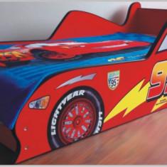 Pat masina Cars - Pat tematic pentru copii Altele, Altele, 140x70cm, Rosu