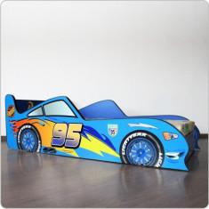 Pat copii masina - Dinoco - Pat tematic pentru copii Altele, Altele, 140x70cm, Albastru