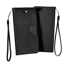 Husa Samsung Galaxy A8 A800 Flip Case Inchidere Magnetica Black - Husa Telefon Samsung, Negru, Piele Ecologica, Cu clapeta, Toc