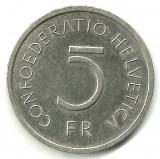 ELVETIA   5 FRANCI 1976 JUBILIARA MURATUM NIKEL  STARE XF