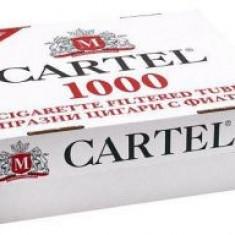 Aparat inj. Angel /PLUS Tuburi tigari pentru injectat tutun Cartel - 1000 buc - Foite tigari