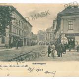 3120 - L i t h o, SIBIU, Market - old postcard - used - 1903