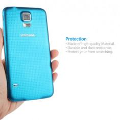 Carcasa capac spate BLUE BLEU deschis Samsung Galaxy S5 + folie ecran cadou - Husa Telefon Samsung, Auriu
