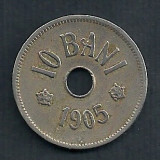 ROMANIA 10 BANI 1905 [4] Livrare in cartonas - Moneda Romania, Cupru-Nichel