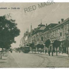 3123 - SATU-MARE, Tramway - old postcard - used - 1917 - Carte Postala Maramures 1904-1918, Circulata, Printata