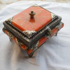 Cutie Bijuterii veche Spectaculoasa executata manual Splendida Vintage