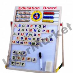 Tabla magnetica din lemn cu doua fete 56 x 39 cm - Jucarie interactiva