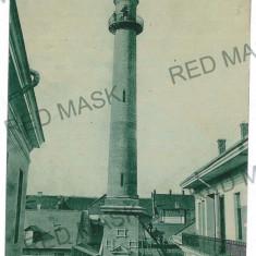 3125 - SATU-MARE, Turnul Pompierilor, Firemen Tower - old postcard - used - 1908 - Carte Postala Maramures 1904-1918, Circulata, Printata