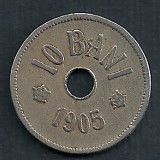 ROMANIA 10 BANI 1905 [2] Livrare in cartonas - Moneda Romania, Cupru-Nichel