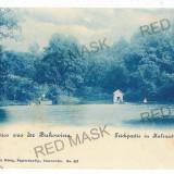 3093 - Bukowina, CZERNOWITZ, lake Calinesti-Marin - old postcard - unused